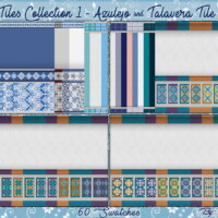 Totally Collection 1 – Azulejo & Talavera Tiles By Wykkyd