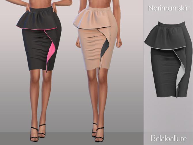Sims 4 Belaloallure Nariman skirt by belal1997 at TSR