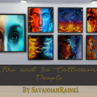 Fire And Ice Collection: People By Savannahraine