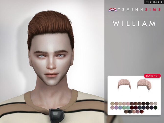 Sims 4 William Hair 151 by TsminhSims at TSR