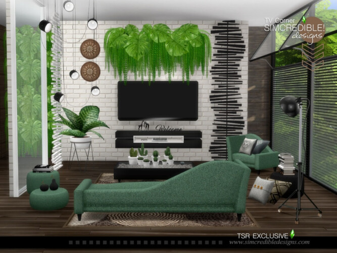 Tv Corner Living Room By Simcredible