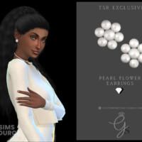 Pearl Flower Earrings By Glitterberryfly