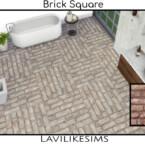 Brick Square Floor By Lavilikesims