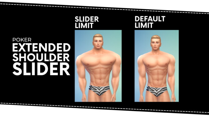 Sims 4 Extended Shoulder Slider by Poker at Mod The Sims 4