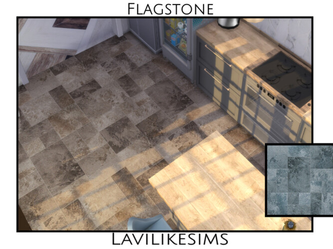 Flagstone Floor By Lavilikesims