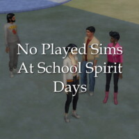 No Played Sims At School Spirit Days By Lazarusinashes