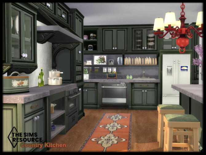 Sims 4 Country Kitchen set by seimar8 at TSR
