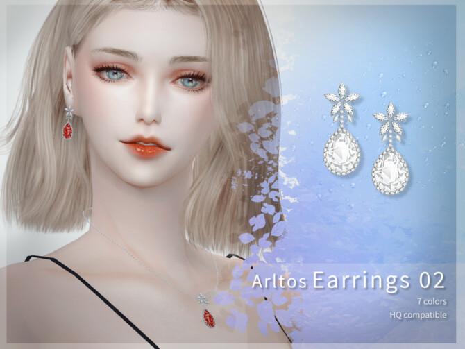 Sims 4 Earrings 02 by Arltos at TSR