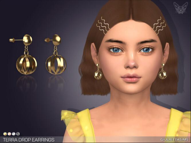 Terra Drop Earrings For Kids By Feyona