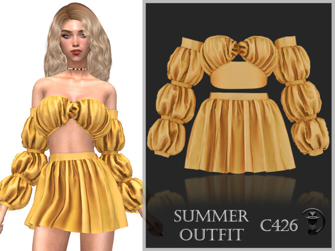 Sims 4 Summer Outfit C426 by turksimmer at TSR