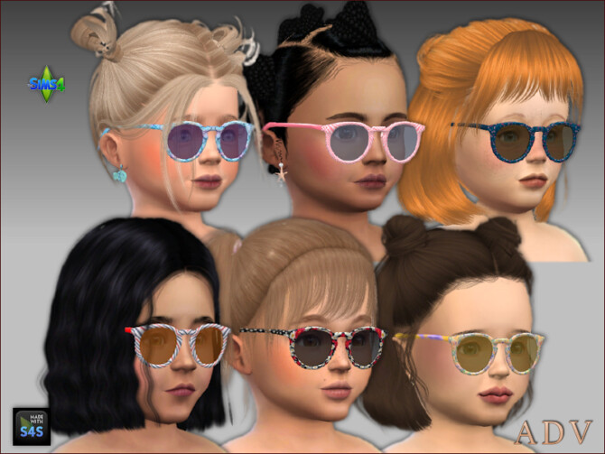 Sims 4 Swimsuits, turbans and sunglasses for toddler girls at Arte Della Vita