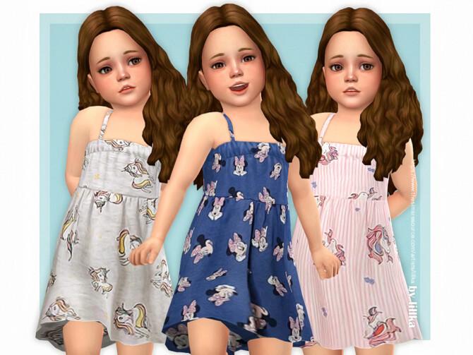 Sims 4 Liah Dress by lillka at TSR