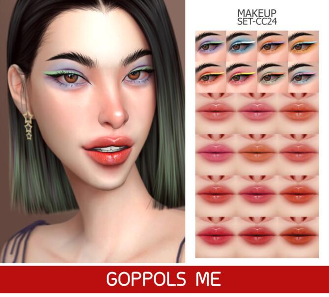 Sims 4 GPME GOLD MAKEUP SET CC24 at GOPPOLS Me