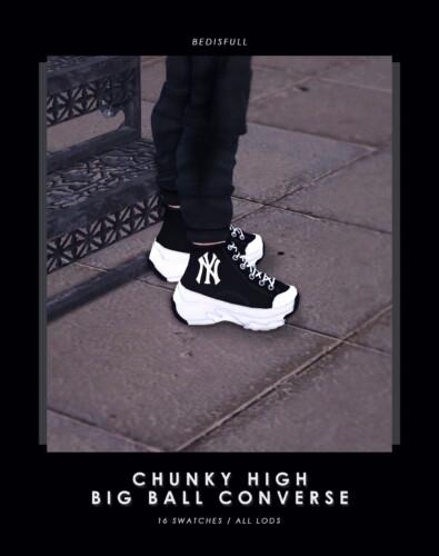 M Chunky High Big Ball Converse