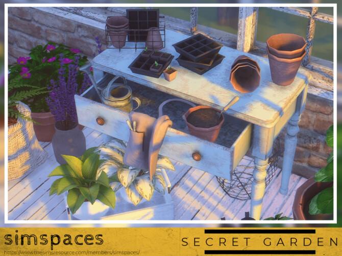 Sims 4 Secret Garden Potting Set by simspaces at TSR