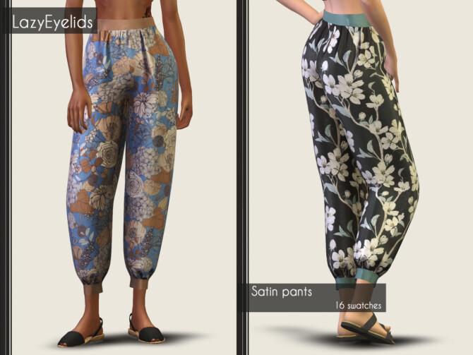 Sims 4 Satin kimono & pants + Bandeau crop top & skirt at LazyEyelids