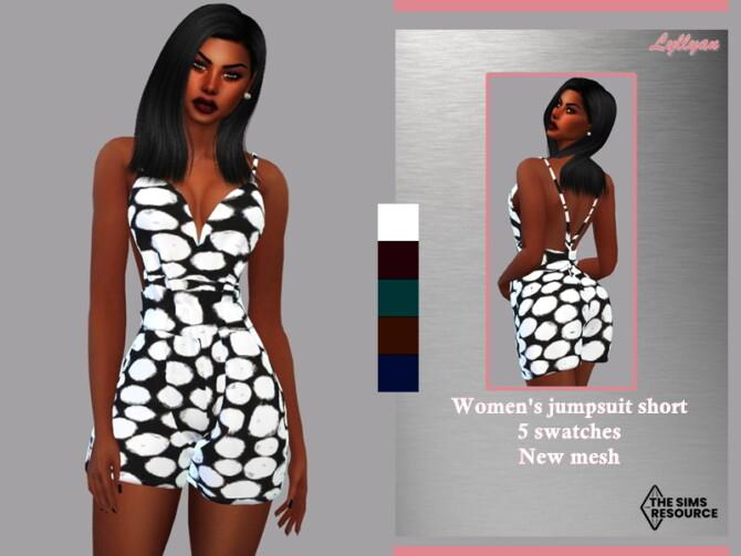Sims 4 Womens jumpsuit short kamila by LYLLYAN at TSR
