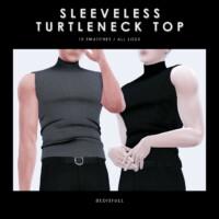 M Sleeveless Turtleneck Top