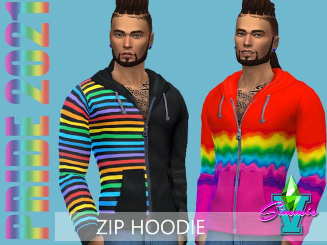 Pride21 Zip Hoodie By Simmiev