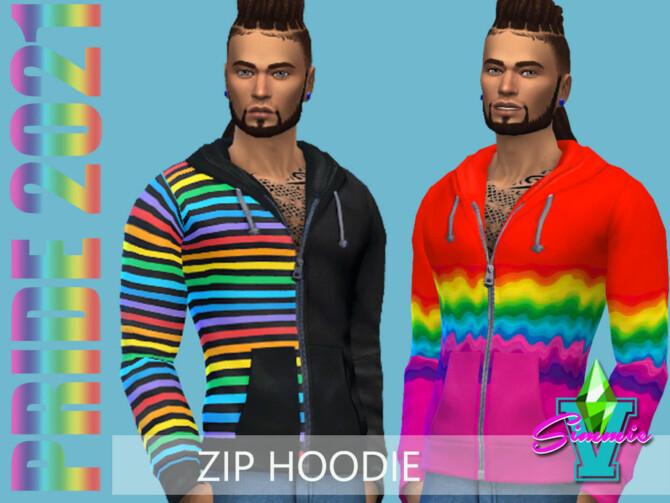 Sims 4 Pride21 Zip Hoodie by SimmieV at TSR