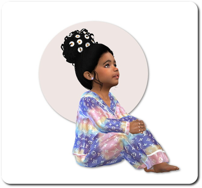 Sims 4 Designer Silk Pyama for Toddler Girls and Boys at Sims4 Boutique
