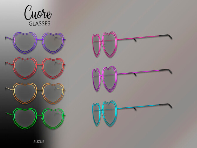 Sims 4 Cuore Glasses Toddler by Suzue at TSR