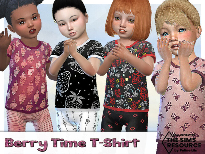 Berry Time T-shirt By Pelineldis