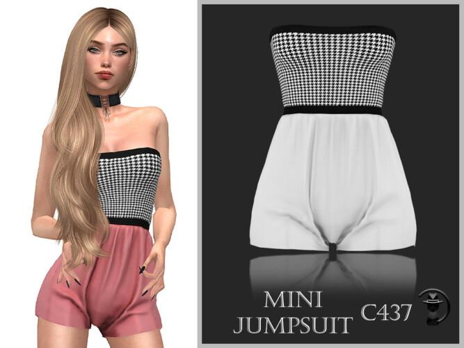Mini Jumpsuit C437 By Turksimmer
