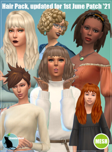 Hair Pack Updated With 6 New Swatches