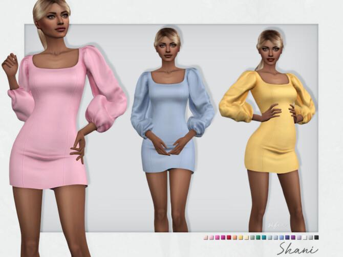 Sims 4 Shani Dress by Sifix at TSR
