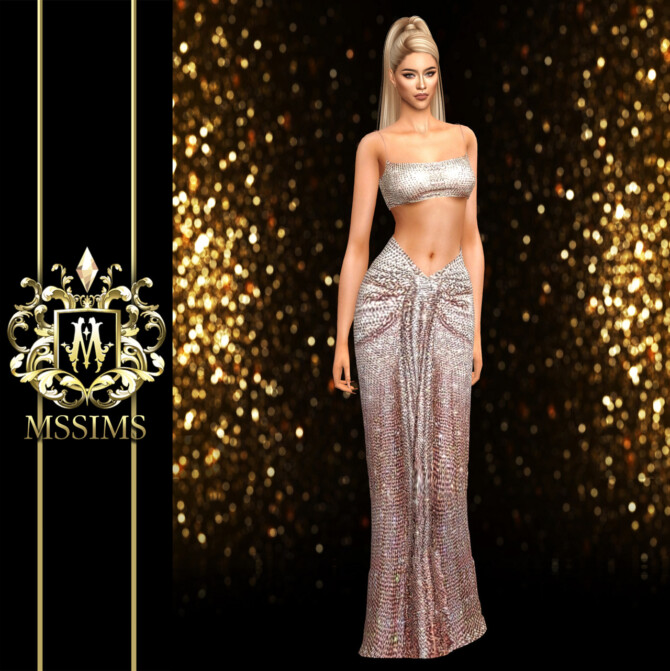 Sims 4 ELSA 2019 GOWN at MSSIMS