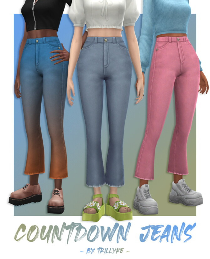 Sims 4 Countdown Jeans at Trillyke