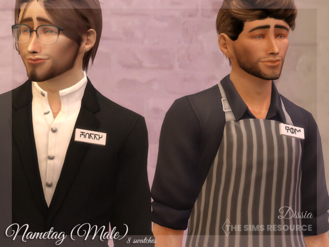 Sims 4 Nametag (Male) by Dissia at TSR