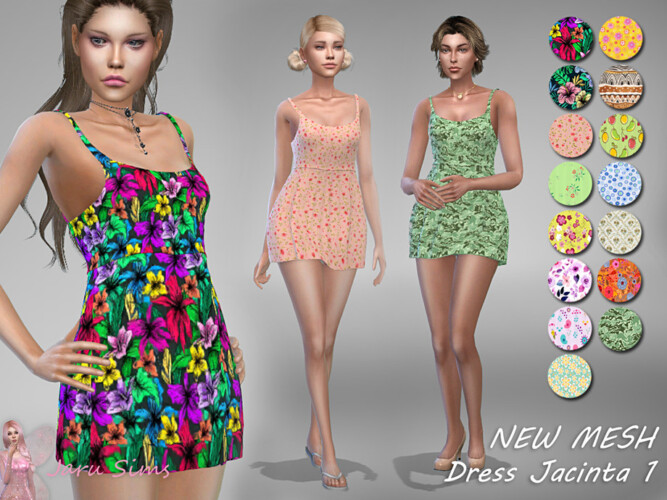 Dress Jacinta 1 By Jaru Sims
