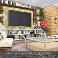 Ayla Living Room By Rirann