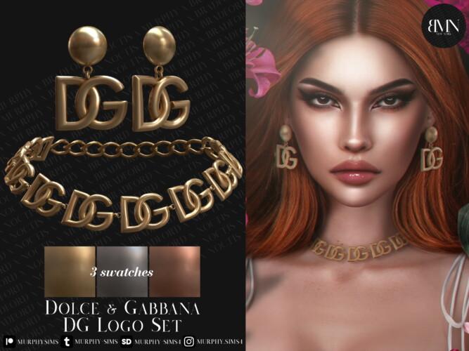 Earrings & Necklace Logo Set