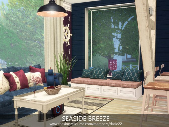 Sims 4 SEASIDE BREEZE kitchen by dasie2 at TSR