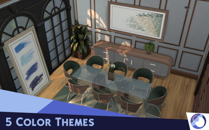 Sims 4 Eetkamer Dining Room by Cicada at Mod The Sims 4
