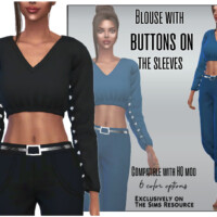 Blouse With Buttons On The Sleeves By Sims House