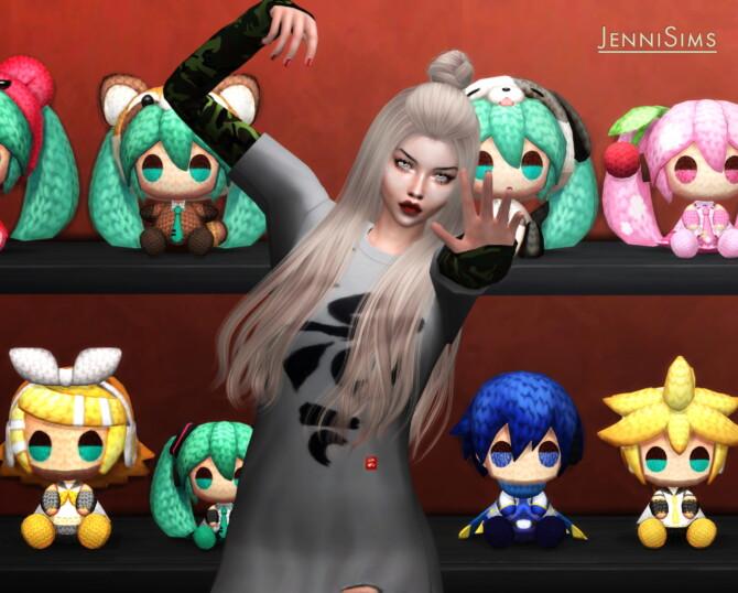 Sims 4 Hatsune miku DECORATIVE (9 ITEMS) at Jenni Sims