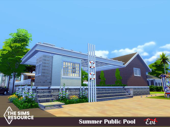 Summer Public Pool By Evi