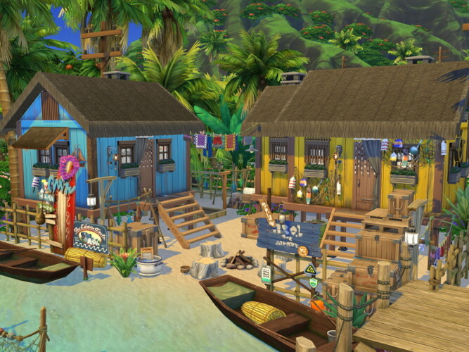Tropical Fishing Camp By Flubs79