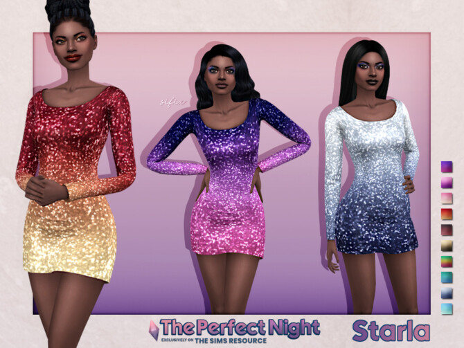 Sims 4 The Perfect Night Starla Dress by Sifix at TSR