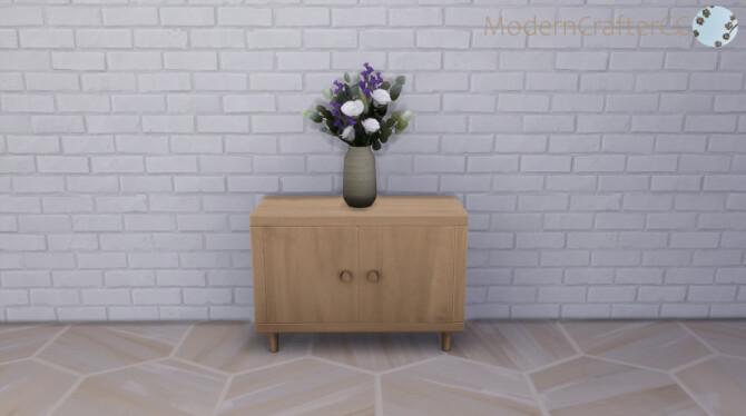 Sims 4 Aint Teak Hallway Table at Modern Crafter CC