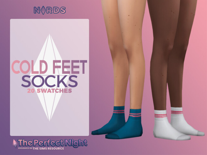 Sims 4 Cold Feet Socks by Nords at TSR