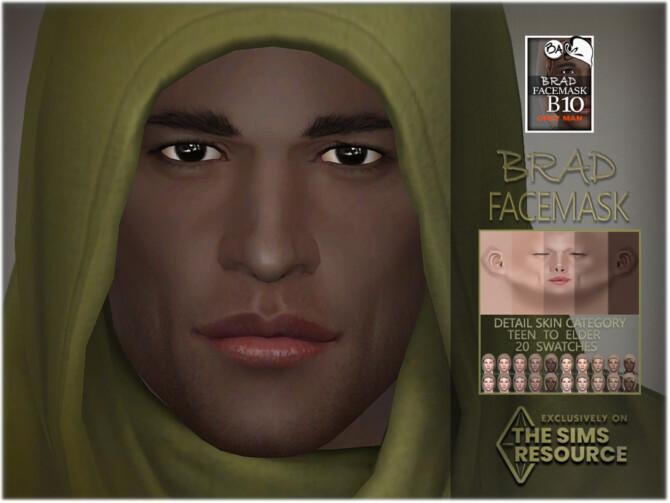 Sims 4 Brad Facemask by BAkalia at TSR