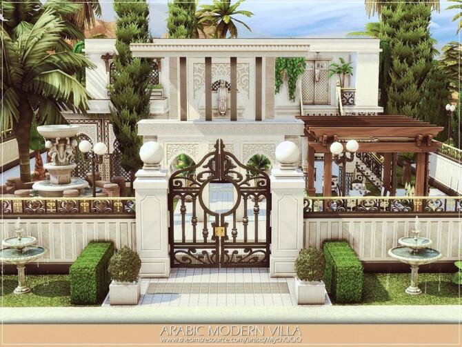 Sims 4 Arabic Modern Villa by MychQQQ at TSR