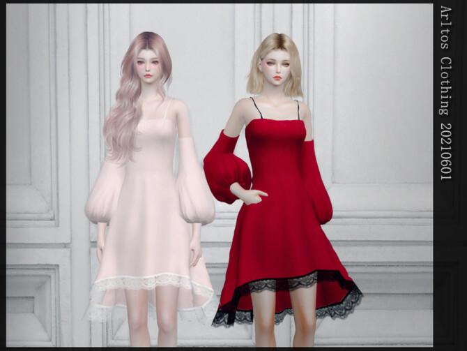 Sims 4 Dress 20210601 by Arltos at TSR