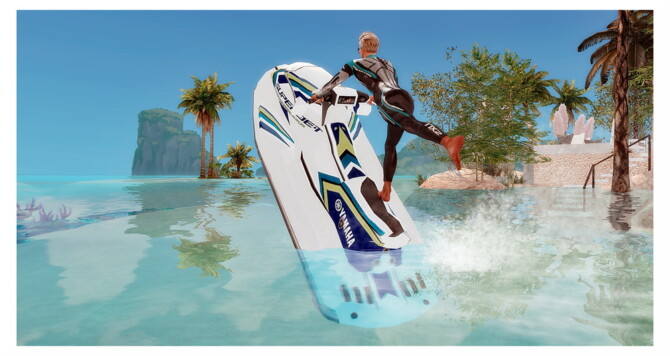 Sims 4 Yamaha Jetski EA recolor at Sims4 Boutique