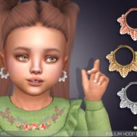 Folium Little Hoop Earrings For Toddlers By Feyona